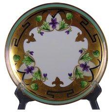 Stouffer Studios Gold & Platinum Violets Design Plate (Signed/c.1906-1914)