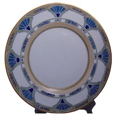"Hutschenreuther Bavaria Enameled Egyptian Motif Plate (Signed ""M.A. Warren""/Dated 1915)"