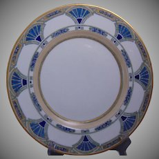 """Hutschenreuther Bavaria Arts & Crafts Enameled Egyptian Motif Plate (Signed """"M.A. Warren""""/Dated 1915)"""