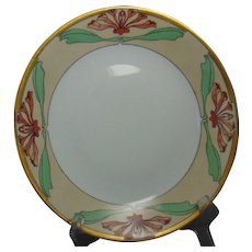 "D&Co. Limoges Floral Motif Plate (Signed ""Mary A. Warren""/Dated ""April 2, 1912"")"
