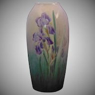 "Rosenthal Bavaria Arts & Crafts Iris Motif Vase (Signed ""D.P. Reed""/Dated ""March 1908"")"