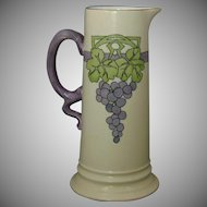 "Rosenthal Selb Bavaria Arts & Crafts Grape Motif Pitcher/Ewer (Signed ""Deborah J. Wright""/Dated 1913)"