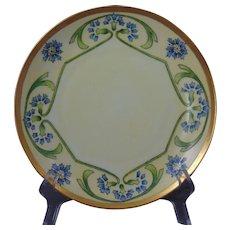 Rosenthal Bavaria Arts & Crafts Cornflower Motif Plate (c.1910-1930)