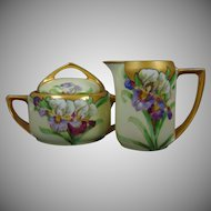 Rosenthal Bavaria Donatello Iris Design Creamer & Sugar Set (c.1907-1940)