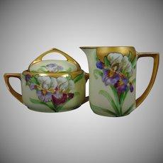Rosenthal Bavaria Donatello Iris Design Creamer & Sugar Set (c.1907-1940)