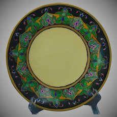 """Jean Pouyat (JP) Limoges Arts & Crafts Plate (Signed """"C.R. James""""/Dated 1906)"""