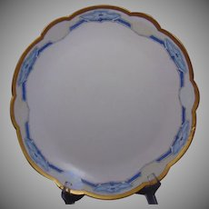 """Paroutaud Freres (P&P) Limoges Arts & Crafts """"Morning Glory"""" Design Charger/Plate (c.1914-1930)"""