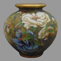 RStK Amphora Austria Enameled Peony Design Vase (c.1899-1905)