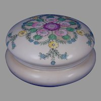 "Vignaud Limoges Enameled Floral Design Covered Jar (Signed ""L. Roberts""/Dated 1912)"