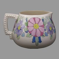 "Lenox Belleek (American) Enameled Floral Design Cider/Lemonade Pitcher (Signed ""E.L.F.""/Dated 1921)"