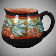 Porcelain Arts & Crafts Cherry Motif Pitcher (c.1900-1930)