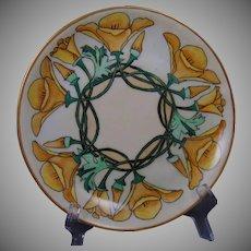 """Hutschenreuther Selb Bavaria Arts & Crafts Floral Motif Plate (Signed """"J. Parke""""/c.1910-1930)"""