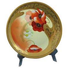 "Pickard Studios ""Poppy & Daisy"" Design Charger/Plate (Signed ""Schoner""/c.1905-1910)"