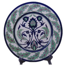CA Limoges Islamic/Iznik Floral Motif Plate (Signed/Dated 1913)