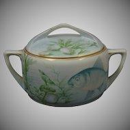 Rosenthal Donatello Bavaria Marine/Fish Motif Biscuit Jar (c.1907-1956)