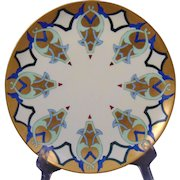 Haviland Limoges Arts & Crafts Geometric Design Plate (c.1894-1931)
