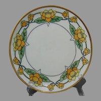 Thomas Bavaria Pond Lily Motif Plate (Signed/c.1910-1930)