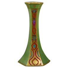 T&V Limoges Egyptian Revival Motif Candlestick (c.1907-1919)