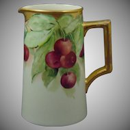Lenox Belleek Cherry Motif Pitcher (c.1906-1924)