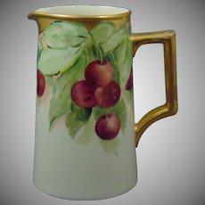 Lenox Belleek (American) Cherry Motif Pitcher (c.1906-1924)