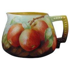 Ceramic Art Company (CAC) Belleek Apple Motif Cider/Lemonade Pitcher (c.1899-1906)