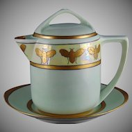 Rosenthal Bavaria Bee Motif Honey/Syrup Pitcher Set (c.1907-1930)