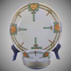 Jaeger & Co. (JC) Bavaria Orange Design Bowl Set (c.1909-1920) - Keramic Studio Design