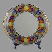 "Rosenthal Selb Bavaria Donatello Fruit Design Handled Plate (Signed ""F.E.F.""/c.1907-1930)"