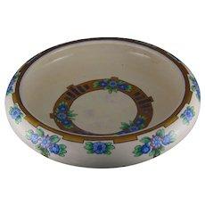 American Satsuma Floral Design Footed Centerpiece Bowl (c.1910-1930)