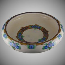 American Satsuma Floral Design Footed Centerpiece Bowl (c.1910-1930)