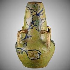 Amphora Austria Bird & Floral Design Vase (c.1890-1905)