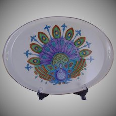 RS Germany Peacock Design Handled Tray (c.1904-1940)