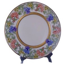 Rosenthal Selb Bavaria Floral Design Plate (Signed/Dated 1930) - Keramic Studio Design