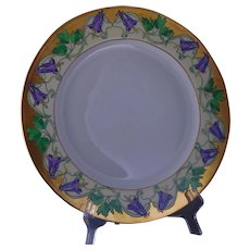 "Limoges ""Mark 6"" Columbine Design Plate (Signed/Dated 1930)"