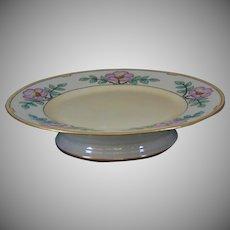 Bernardaud & Co. (B&Co.) Limoges Pink Floral Motif Cake/Pedestal Plate (Signed/c.1910-1930)