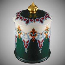 Lenox Belleek (American) Enameled Biscuit Jar/Humidor (Signed/Dated 1908)