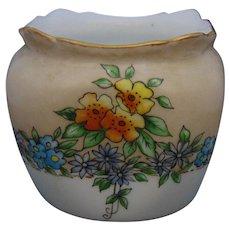 """Hutschenreuther Favorite Bavaria Floral Design Vase/Dish (Signed """"T.M. Gregory""""/c.1910-1930)"""