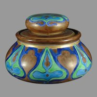PH Leonard Austria Geometric Design Biscuit Jar/Humidor (c.1900-1930)