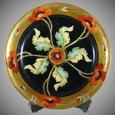 "Pitkin & Brooks Studio Poppy Design Bowl (Signed ""F.M.""/c.1903-1910)"