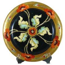 "Pitkin & Brooks Studio Poppy Design Bowl (Signed ""F.M.""/c.1903-1910)"