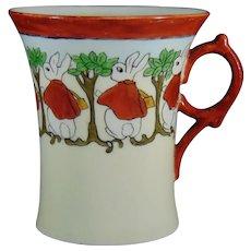 "GDA Limoges ""Peter Rabbit"" Design Mug/Cup (Signed/c.1905-1930) - Keramic Studio Design"