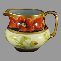 "Pickard Studios ""Poppy Conventional & Black"" Design Pitcher (Signed ""Loh""/c.1903-1905)"