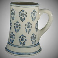 "Lenox Belleek (American) Floral Design Mug/Tankard (Signed ""CSH""/Dated 1915)"