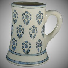"Lenox Belleek (American) Floral Design Mug/Tankard (Signed ""CSH""/Dated 1915)"