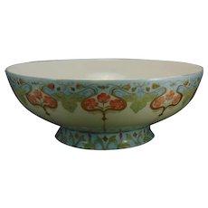 "Haviland Limoges Floral Design Centerpiece/Punch Bowl (Signed ""C. Siebert""/c.1910-1930)"