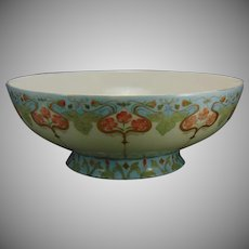 "Haviland Limoges Floral Design Centerpiece/Punch Bowl (Signed ""C. Siebert""/c.1910-1930)"