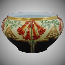 Bavaria Trumpet Flower Design Planter/Vase (c.1910-1930) - Keramic Studio Design