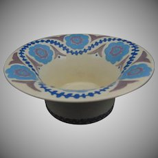 "American Satsuma Abstract Floral Design Bowl (Signed ""Claudia V. Barnes""/Dated 1917)"