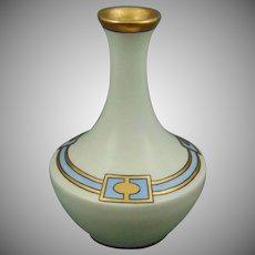 """T&V Limoges Art Deco Vase (Signed """"Curl""""/c.1905-1920)"""