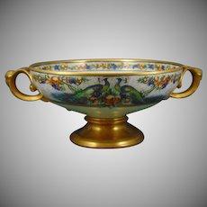 "Rosenthal Bavaria Peacocks & Fruit Design Centerpiece Bowl (Signed ""CCW""/c.1909-1930) - Keramic Studio Design"